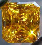 orange yellow radiant cut diamond