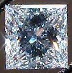 D color princess cut diamond