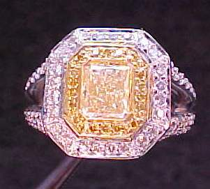 yellow microset diamond ring