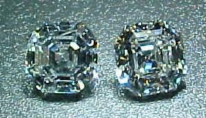 asscher cut diamond earrings
