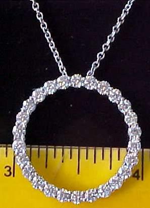 circle of life diamond pendant