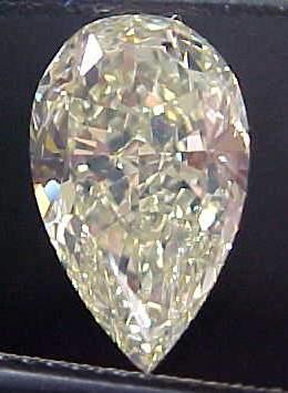 2 73ct Light Yellow Pear Shape Diamond Halo Ring