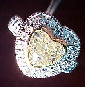 heart diamond semi mount