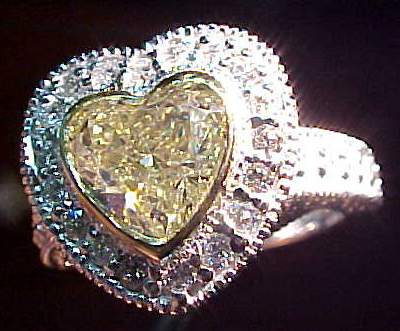 yellow diamond ring