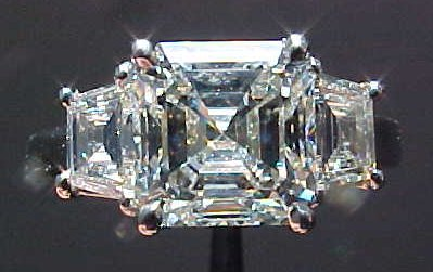 radiant diamond with trapezoids