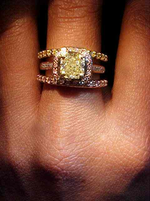 Yellow Diamond Wedding Bands 18kt Yellow Gold Quality Workmanship