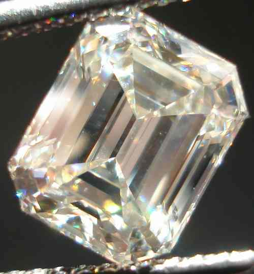 ivory emerald cut diamond