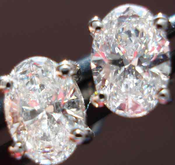 Oval Diamond Earrings Diamond Earrings 1.07ct Total