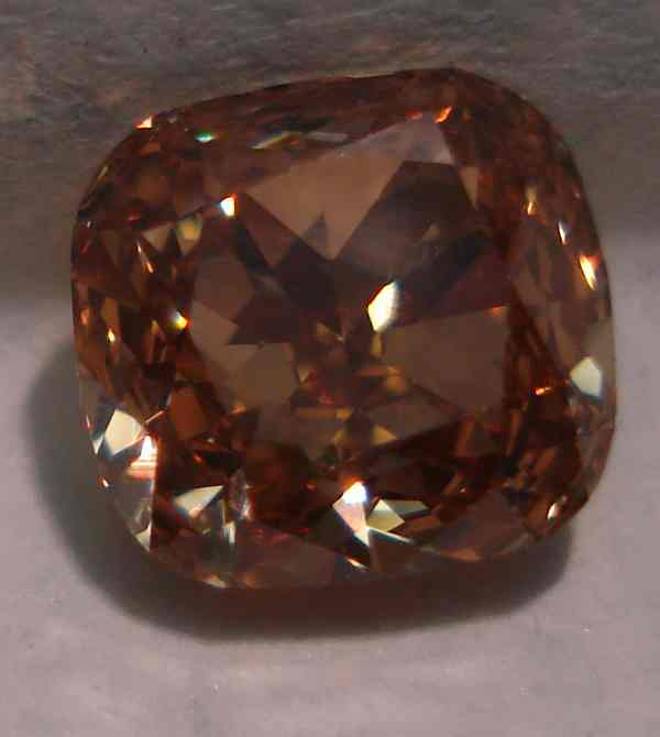 Sold Loose Diamond 1 26 Fancy Orange Brown Cushion