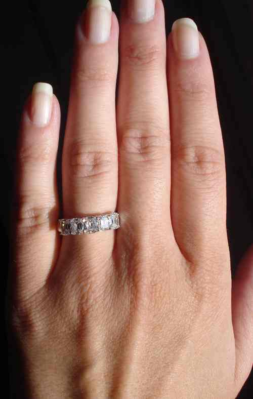 engagement mount p pave mounts set round large vintage c century dramatic semi platinum inspired mid diamond bands ring