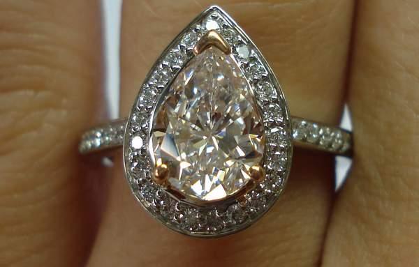 pink diamond ring pink halo diamond engagement rings