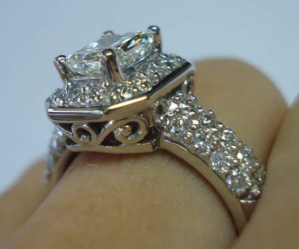 Ring Gia 101carat Ksi2 Cushion Cut Diamond