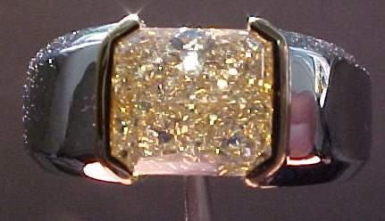 Orange Diamond Ring Men S Ring Jewelry