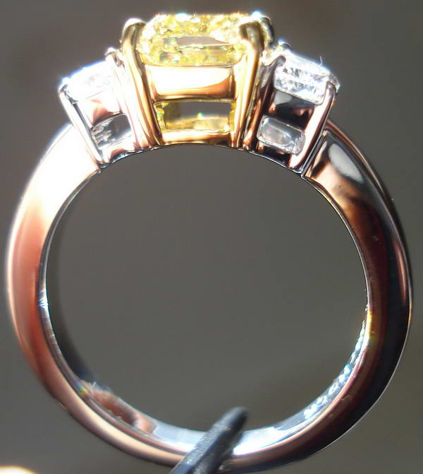 Affordable natural yellow diamond