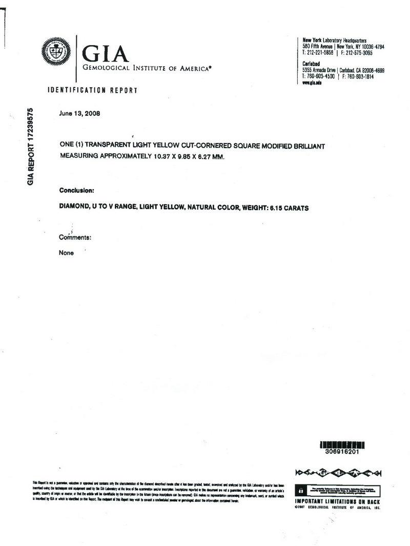 yellow diamond gia certificate
