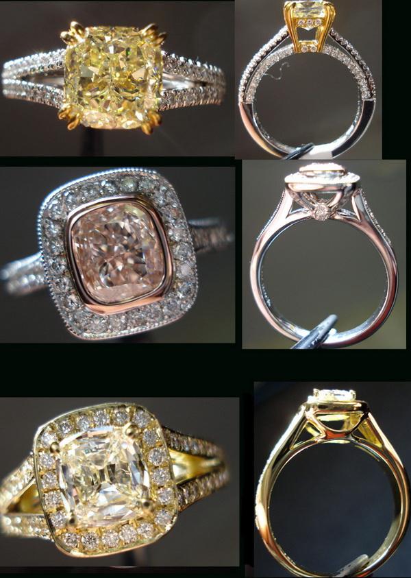 fancy colored diamond rings
