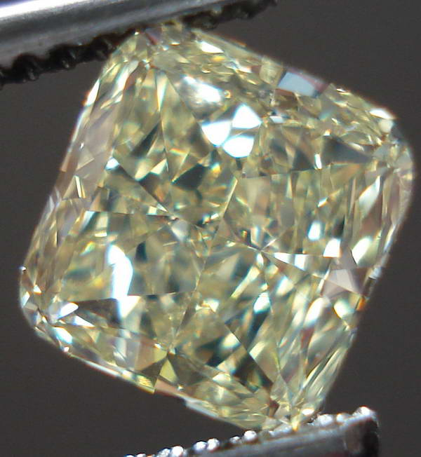 Loose Diamond Fancy Light Yellow Diamond Cushion Cut
