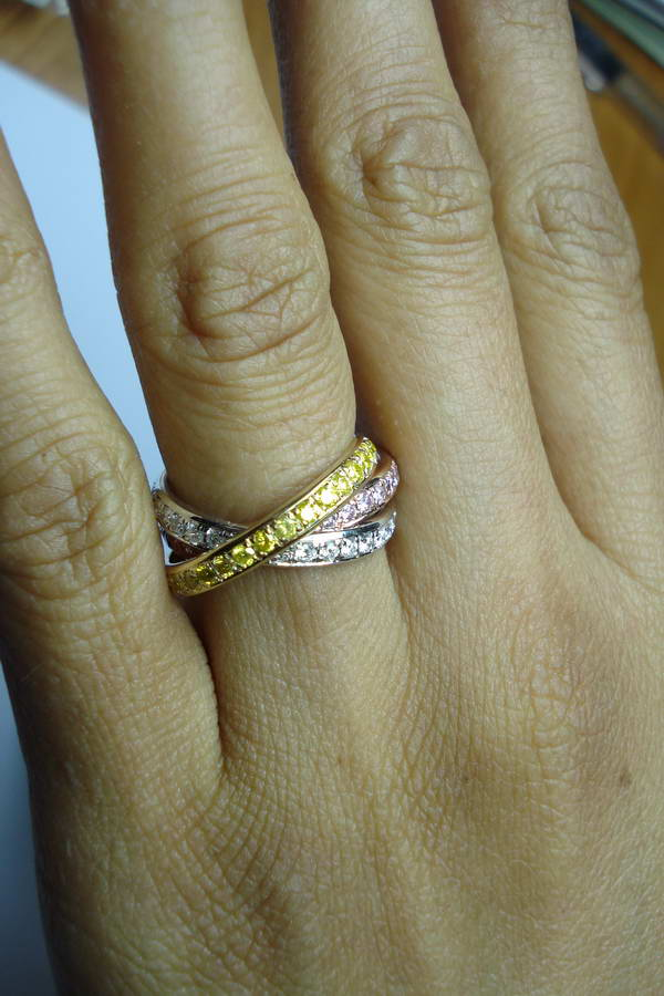 color gold tri wedding ring women store depot big discounts regular pc shop fit s htm at patterns on unique unisex band rings