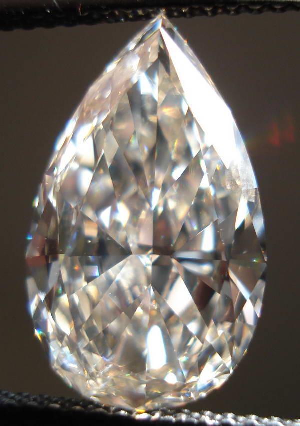 Loose Diamond Pear Shape Diamond Light Brown Diamond