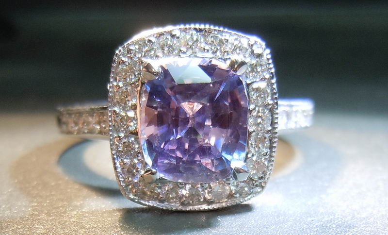 ring engagement sapphire pin rose purple rings jewelry diamond mauve lavender gold