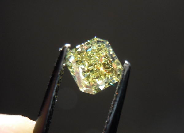yellow radiant cut diamond