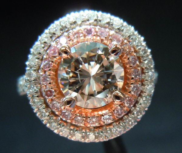 Light pinkish brown diamond Different diamond