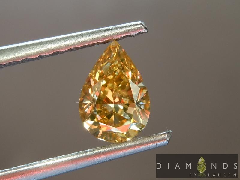 gia orangy yellow diamond