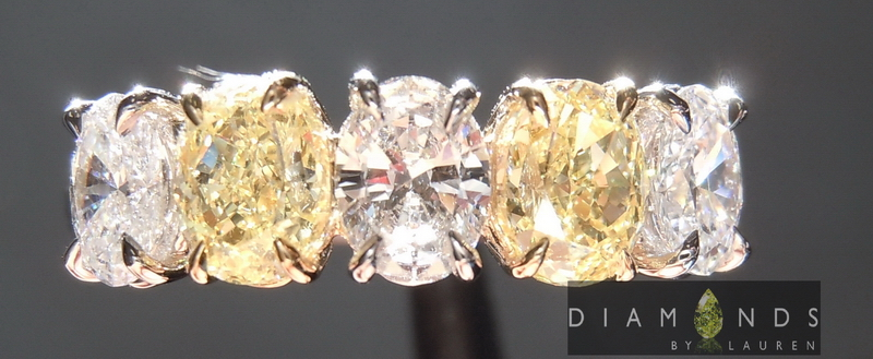 yellow and colorless diamond ring