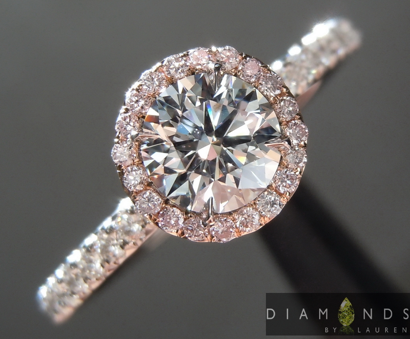 faint blue diamond ring