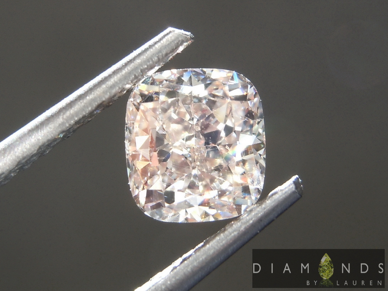 brown cushion cut diamond