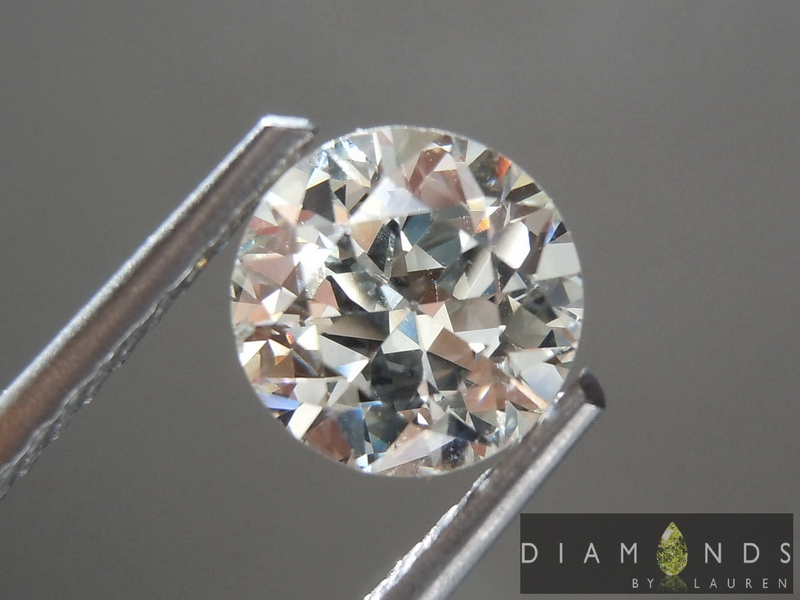 Colorless Diamond Old European Cut Diamond Circular