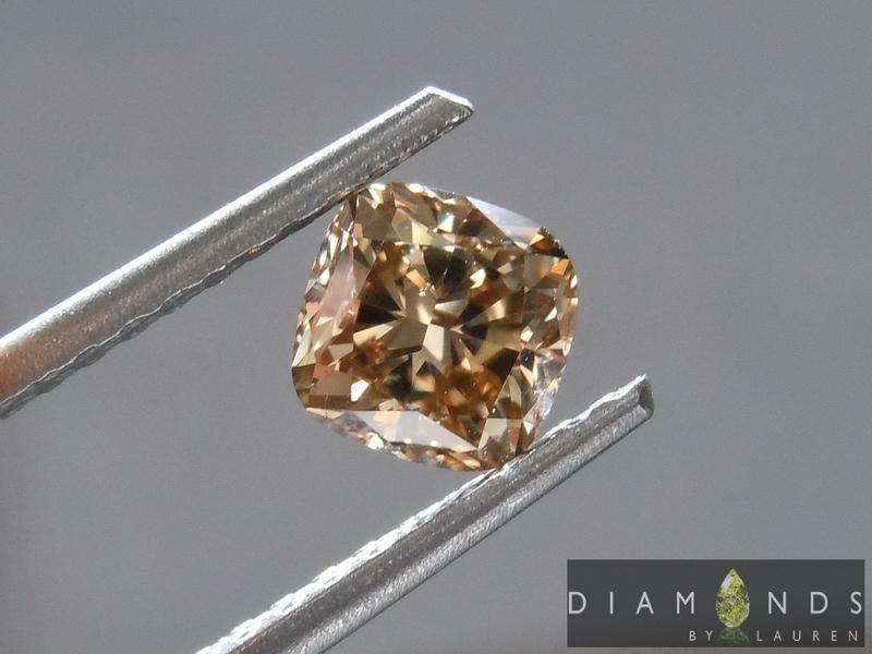 fancy light yellowish brown diamond