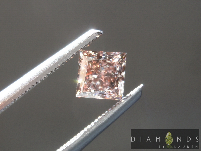 pink princess cut diamond