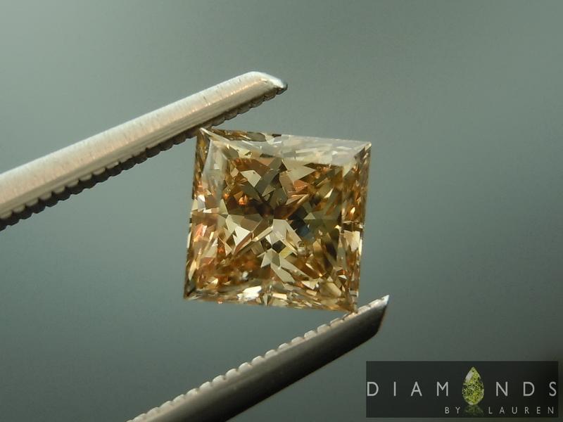 brown princess cut diamond