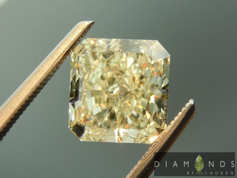 yellow radiant cut diamond