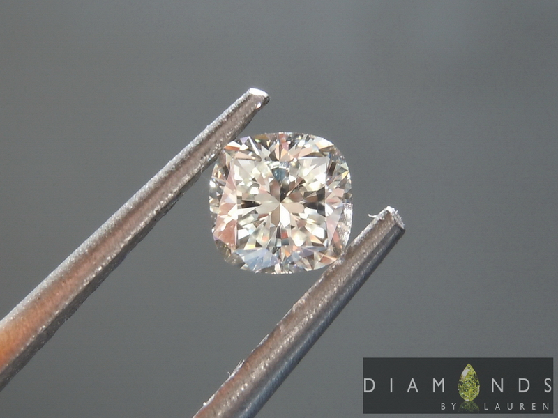 colorless cushion cut diamond