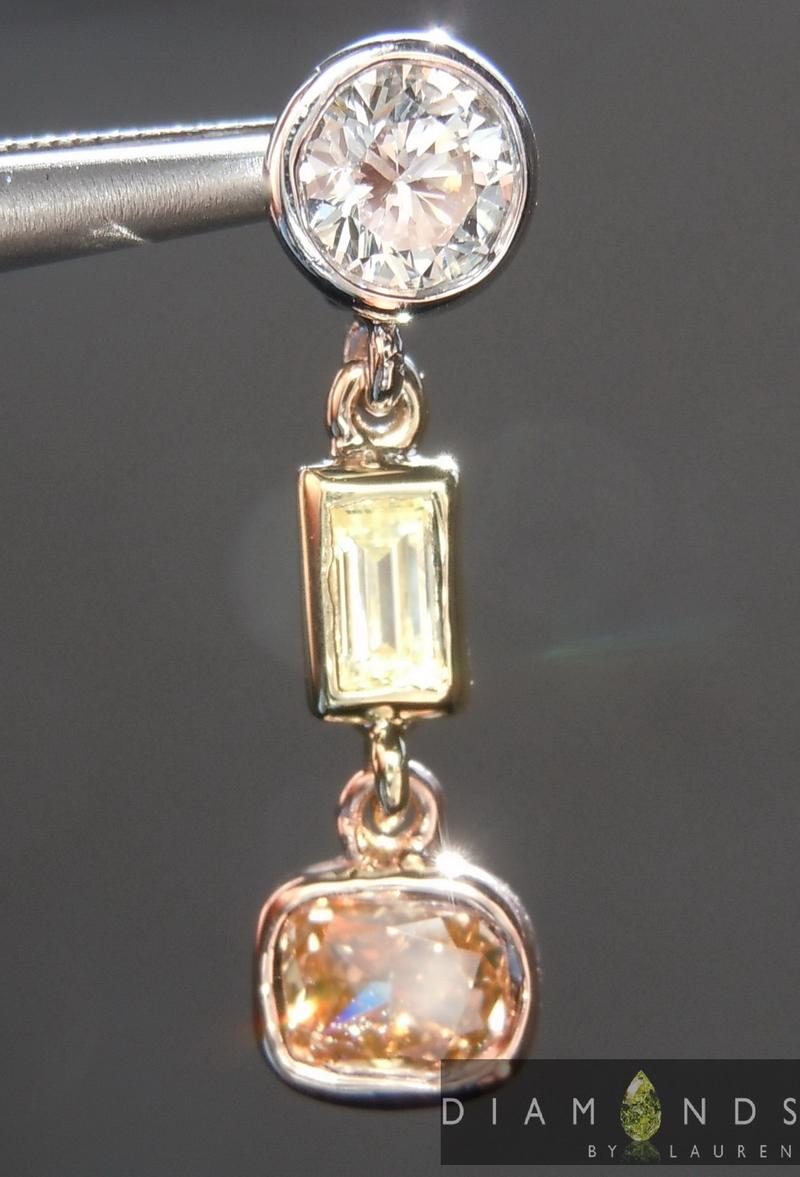 colored diamond pendant