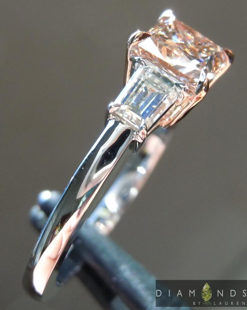 Brown Diamond Princess Cut Diamond Diamond Ring