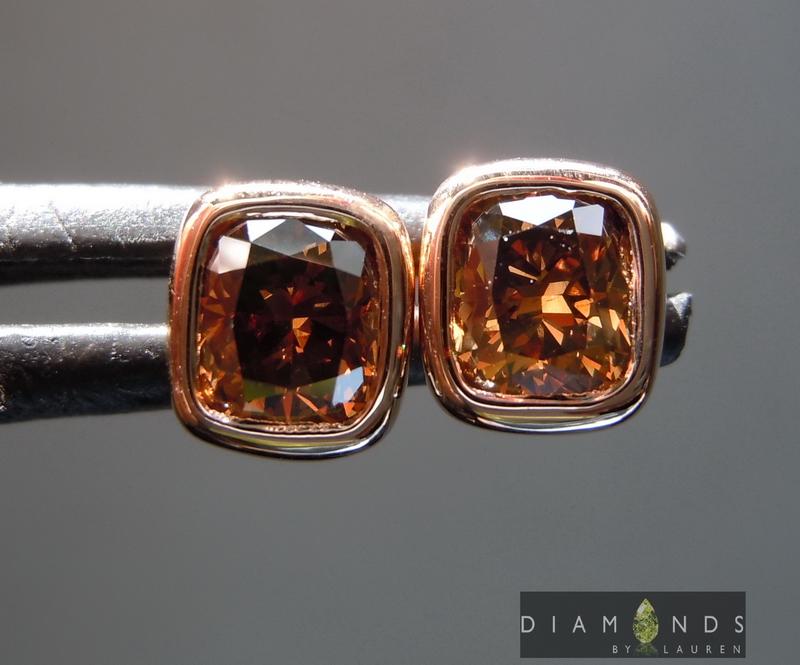 chocolate diamond earrings