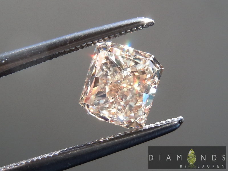 brown radiant cut diamond