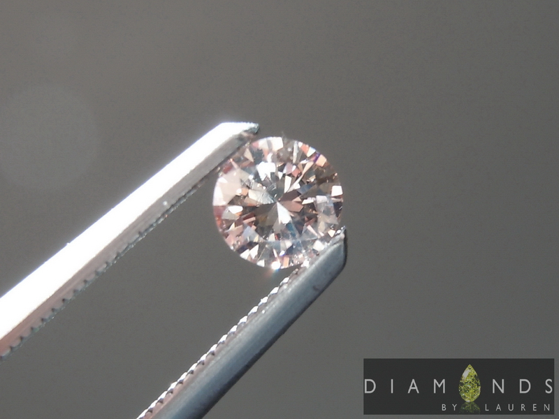 pink round brilliant diamond