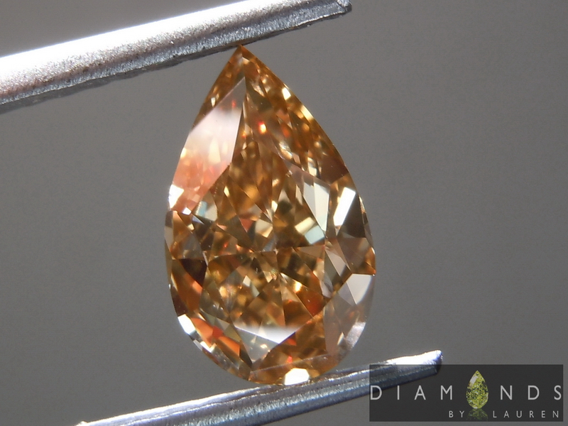 brown pear shape diamond