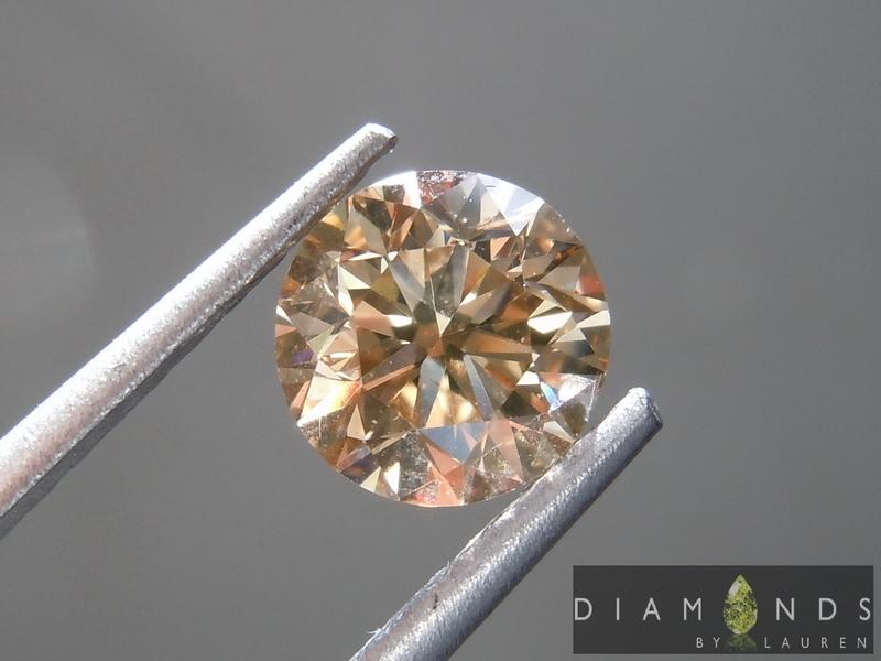 brown round brilliantdiamond