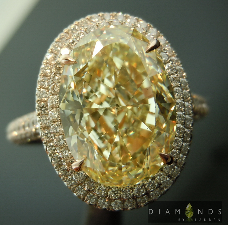 gia fancy yellow diamond ring