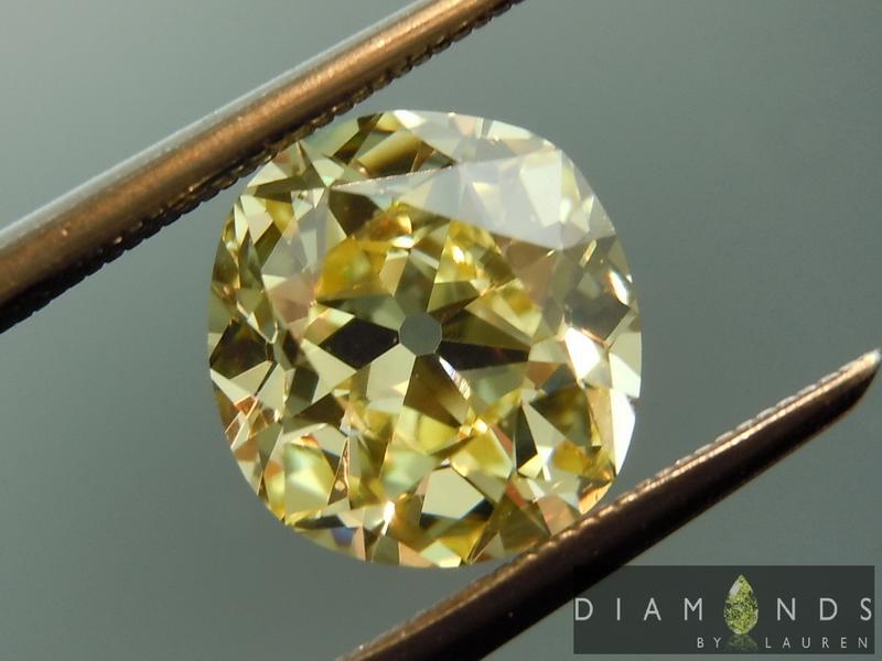 yellow old mine brilliant diamond