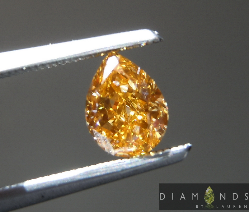 natual orange diamond