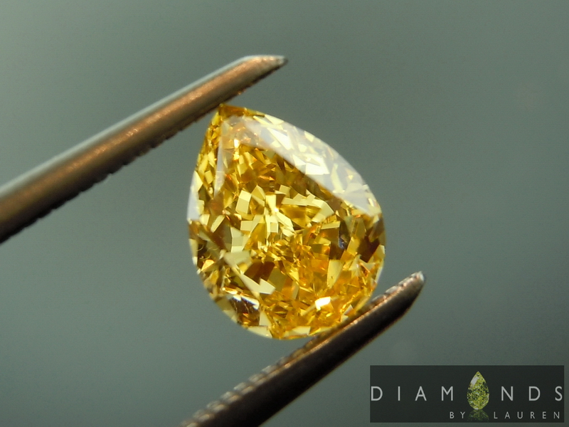fancy intense yellow range diamond