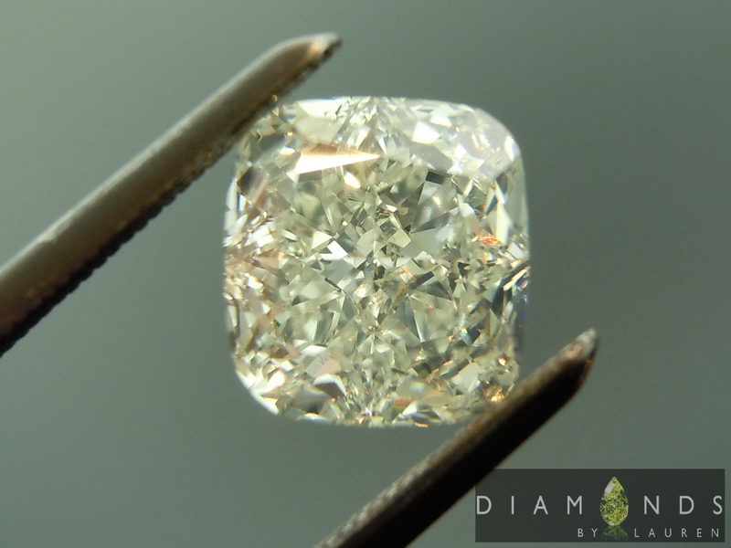 gia faint green diamond