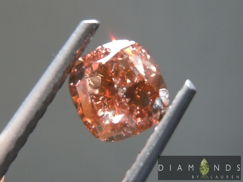 natural pink brown diamond