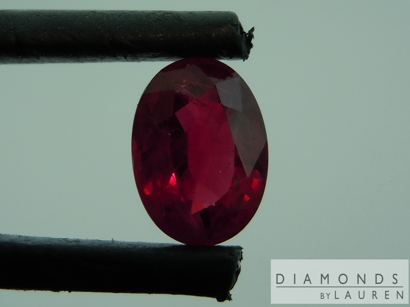 oval shape ruby